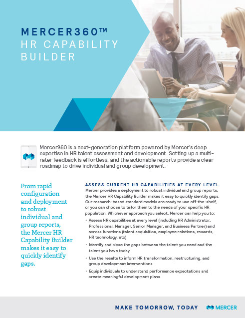 Learn More About Mercer's HR Capability Builder