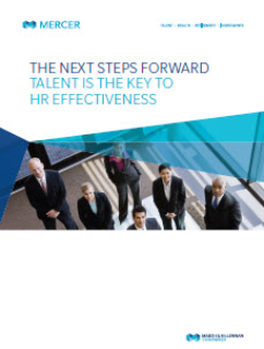 Talent is key to HR effectiveness